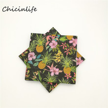 Chicinlife 20pcs/lot Flowers Pineapple Paper Napkins Decoupage Baby Shower Wedding Party Table Supplies 33cm*33cm