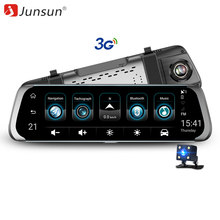 "Junsun 3G Car DVR Stream Rear View Mirror Video Camera 7"" Android 5.1 Dash cam 16GB Full HD 1080P Video Recorder Dual Lens(China)"