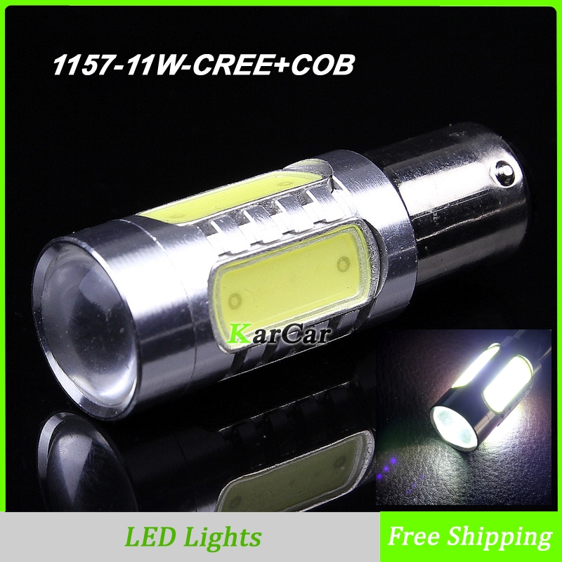 11ВТ 1157 КРИ чип Р5 + cob чип с объективом из светодиодов стоп-сигналы, BAY15D автомобиля задние лампы 2357 2057 парковка лампы P21/5 Вт Противотуманные фары