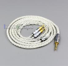 LN006427 99% טהור כסף XLR 2.5mm 4.4mm 3.5mm 8 Core אוזניות אוזניות כבל עבור Sennheiser HD700