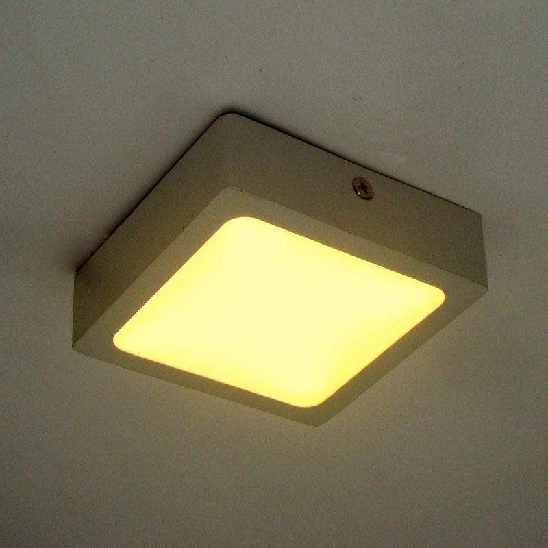 modern led ceiling lights for Hallway bathroom square 90mm aluminum