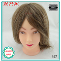 H.P.W. 12 inch Hairdressing Mannequins Doll Heads With 100% Natural Human Hair 90 Gram For Hair Stylist Training