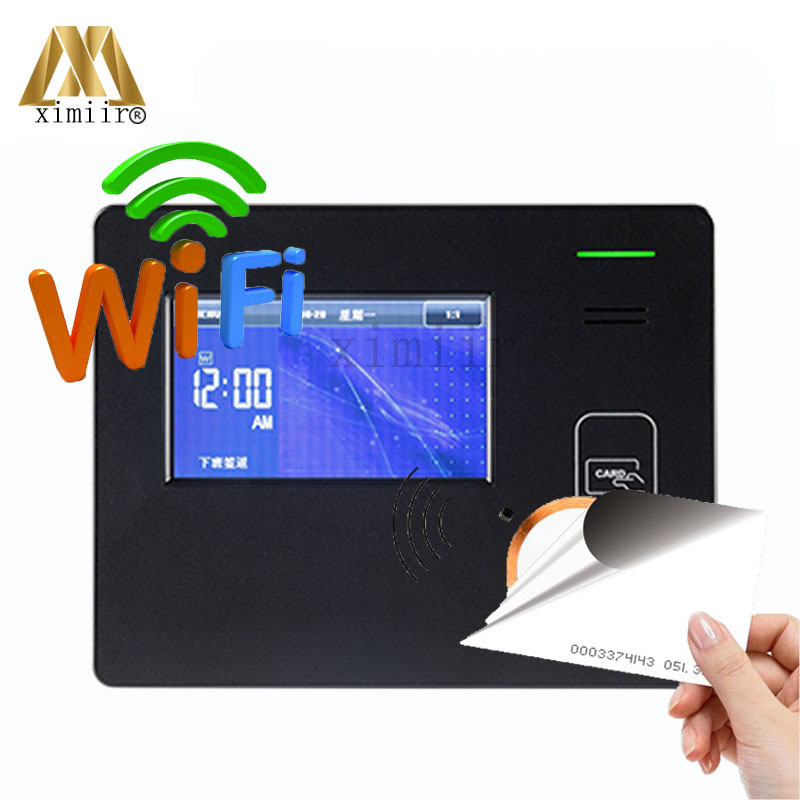 ZK CU600 Biometric Proximity Card IC Card Time Attendance With WIFI TCP/IP USB MF Card Biometric Time Clock With Free Software
