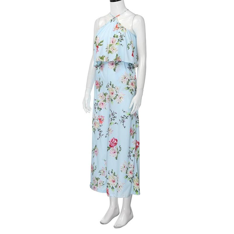 Fashion summer jumpsuit woman 2018 Strap Floral Sleeveless Backless Jumpsuit Long Wide Leg Trousers pantaloni siamesi J28#N (5)