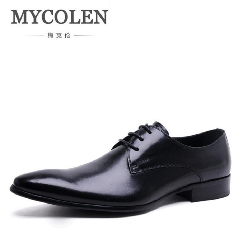 MYCOLEN New High Quality Genuine Leather Man Business Shoes Man Woven Breathable Gentle Man Shoes Brand Heren Schoenen 2016 new high quality genuine leather men business casual shoes men woven breathable hole gentleman shoes brand taima 40 45