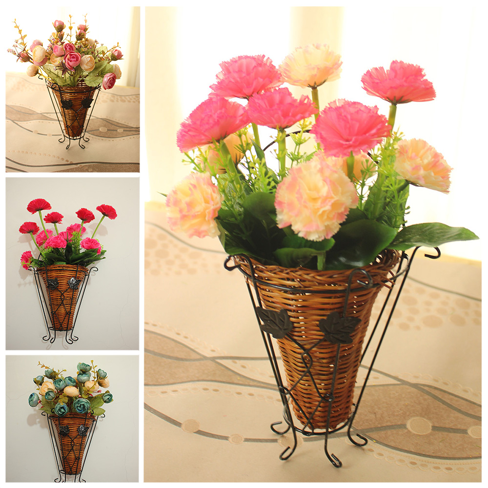 Small rose Carnation Wall mounted Home wedding decorations ...