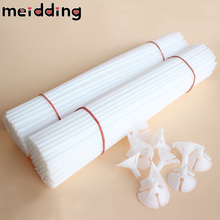 20pcs 30cm White Foil Latex Balloons Sticks Pole Plastic Rods Holder Cups Birthday Party Wedding Balloon Decoration Accessories