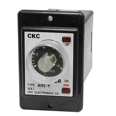 AH2-Y AC 380V 8-Pin DPDT 0-10 Seconds 10Sec Power on Delay Timer Time Relay