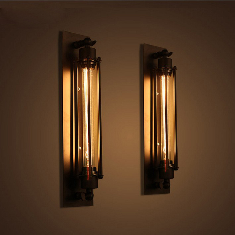 American Pastoral Rural Wall Lights Double Wrought Iron Wall Sconce Minimalist Living Room Study Dining Hallway Wall Lamp american pastoral rural black umbrella double wrought iron wall sconce minimalist living room study dining hallway wall lamp