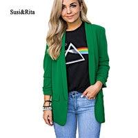 Susi&Rita 5XL Casual Blazer Jacket Women 2019 Long Sleeve Autumn Jackets Plus Size Winter Loose Coat Elegant Ladies Blazer Mujer