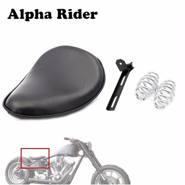 Leather Solo Seat/ Bracket/ Springs with Mounting Kit for Harley Yamaha  Honda Suzuki Kawasaki Sportster Bobber Chopper on Aliexpress com | Alibaba