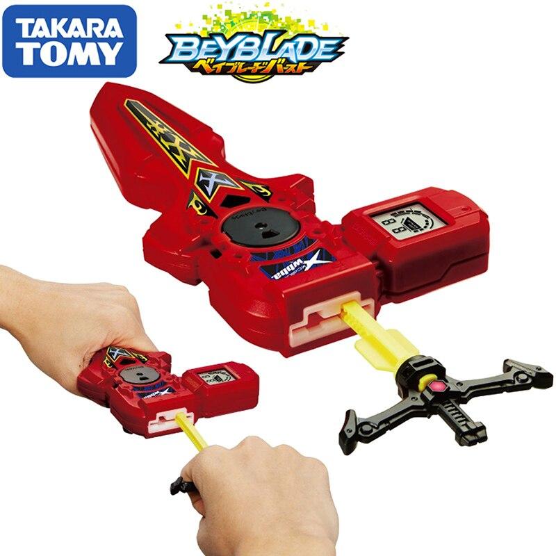 Original TOMY Beyblade rafale lanceur B-94 numérique épée lanceur rouge droite gauche Double Rotation bey lame jouet