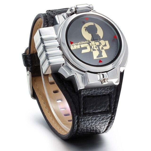 Detective Conan Top Brand Luxury rose gold Laser flip LED Digital Wristwatches Relojes Hombre Clock Men Watches