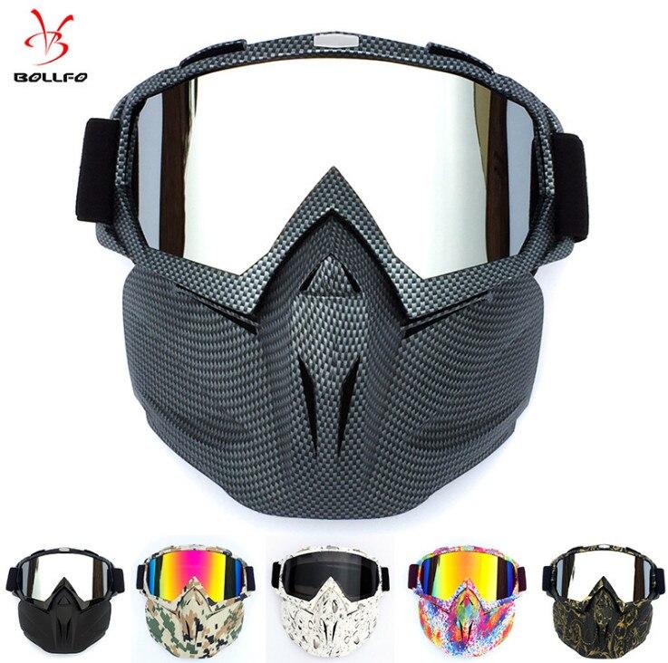 , Die Alte Stil Motorrad Radfahren Maske Brille Modulare Abnehmbare Schützen Gegen Wind, Staub Und Schnee Blindnessglasses
