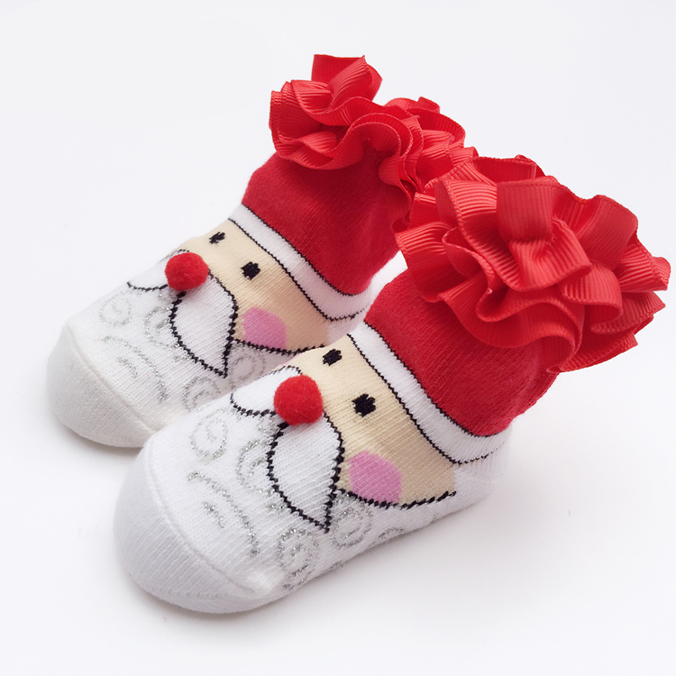 0-24M Newborn Baby Christmas Cotton Socks Infantil Menina New Year Gift New Born Girls Dress Baby Boy Clothes Accessory