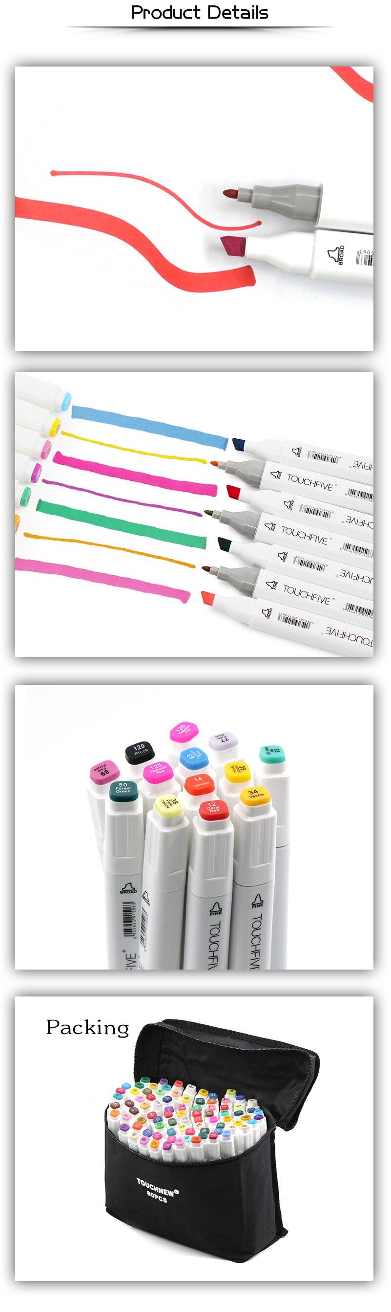 caneta escova alcoólica oleosa baseada tinta marcador