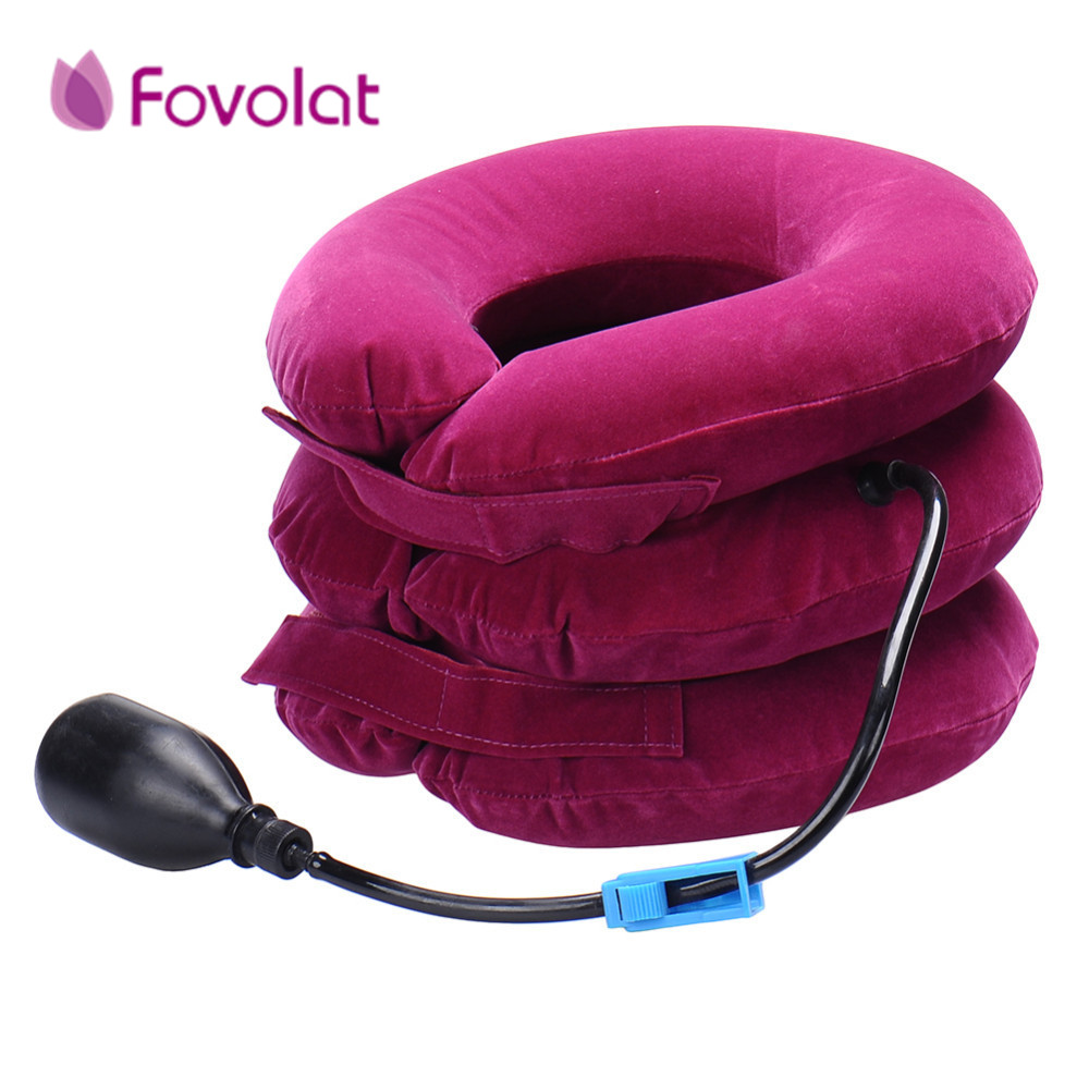 Health Care Neck Massage Relaxation Air Cervical Soft Neck Brace Device Headache Back Shoulder Pain Cervical Traction Device health care pp plastic cervical neck traction for headache back shoulder neck pain traction collar