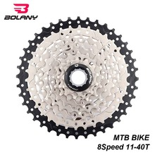BOLANY Bike Freewheel 8 Speed Gear Ratio 11-40T MTB Mountain Cassette Sprocket Parts Flywheel For Shimano Sram
