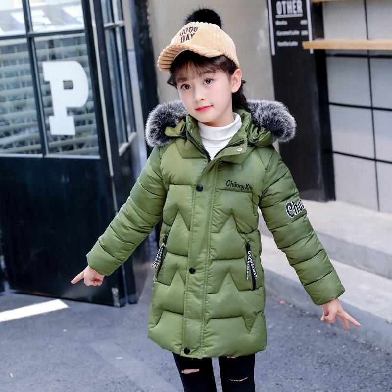 040a9355c Toddler Girl Winter Coat Cotton-padded Parka Korean Style Fur Collar ...