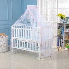 Mosquitera para bebé de verano, cuna de malla para mosquitos, dosel infantil, cama redonda, dosel para cunas no incluye soporte
