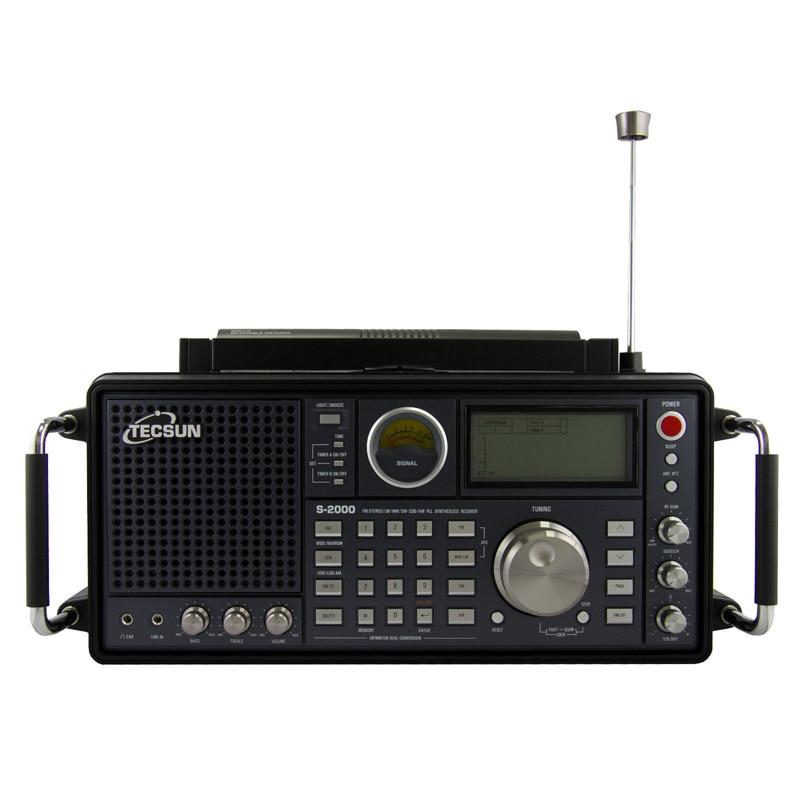 Tecsun S 2000 2 канала Цифровая настройка Настольный Хэм любительского радио SSB с двойным преобразованием PLL FM/MW/SW/ LW Air полный диапазон