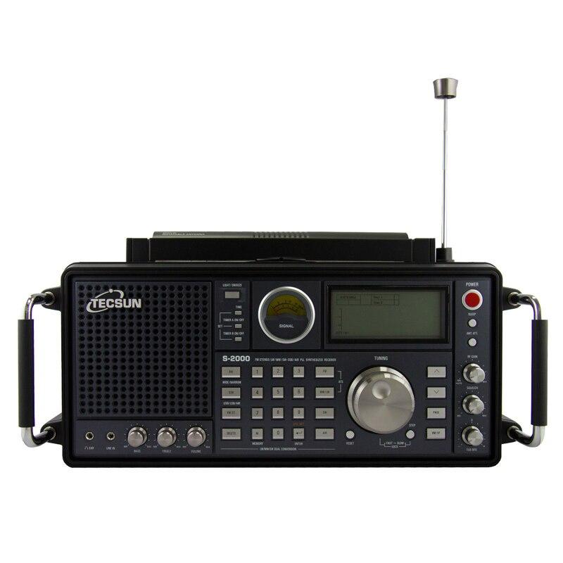 Tecsun S 2000 2 канала цифровой тюнинг Настольный HAM любительский радио SSB двойной преобразования PLL FM/MW/SW/LW Air полный диапазон