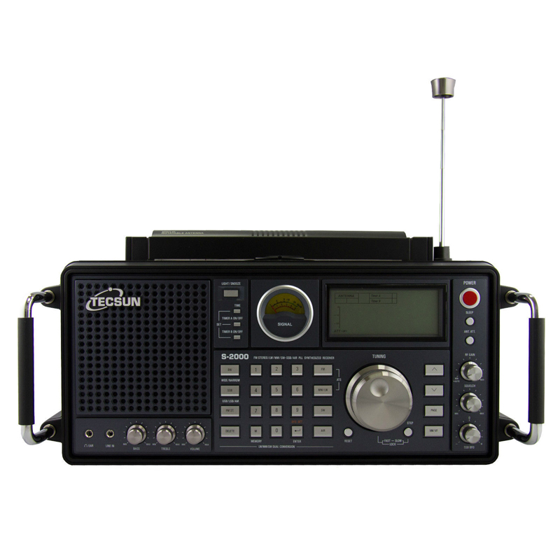 Tecsun S-2000 2 canale Sintonia Digitale Da Tavolo HAM Amateur Radio SSB Doppia Conversione PLL FM/MW/SW/ LW Aria full Band