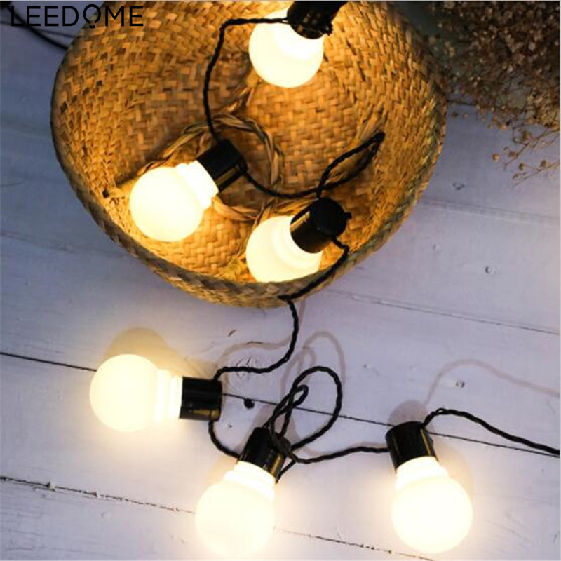 Leedome 6M 20Led Retro String Fairy Light Christmas LED Globe Ball Bulb Flexible Strip Light Outdoor Party Garland Lighting Lamp