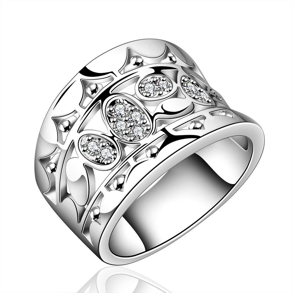 r570 2016 new design silver fashion jewelry finger rings with zircon 7 8 pretty