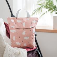 Baby Diaper Bags Maternity Bag Waterproof Wet Cloth Diaper Backpack Reusable Diaper Cover Dry Wet Bag for mom baby care