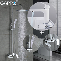 GAPPO Bathtub Faucets bathtub faucets for bathroom wall mounted waterfall Shower Heads rainfall mixers rain shower system|Bathtub Faucets|Home Improvement -