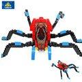 KAZI 6003 Родитель-ребенок Игра Super Hero Строительные Блоки Паук 126 ШТ. Кирпичи Мальчик Развивающие Игрушки День Рождения Juguetes Brinquedo