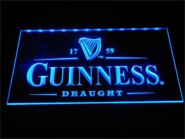 A002 Guinness Vintage Logos Beer Bar della Luce Al Neon del LED Segni con On/Off