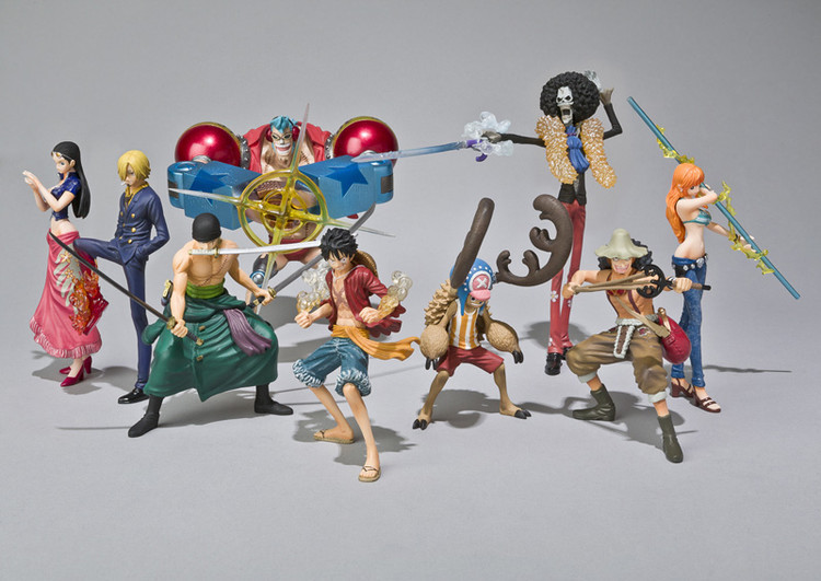Anime One Piece 2 Year Later The straw hat Pirates  Luffy Nami Chopper Zoro Fighting Version 10CM PVC Action Figure Doll Toys 9parts sets anime one piece the straw hat pirates so cool model doll garage kit pvc action figure collection toy