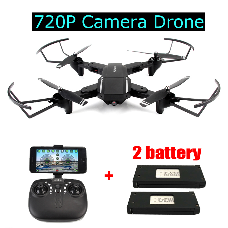 Foldable RC Drone with 2MP Wide-angle 720P Camera Altitude Hold WIFI FPV Quadcopter RTF Helicopter Toys Gifts for Man VS H37 foldable rc quadcopter lh x24 wifi fpv 480p 720p wide angle camera 2 4g selfie drone with led light altitude hold vs xs809w x8w