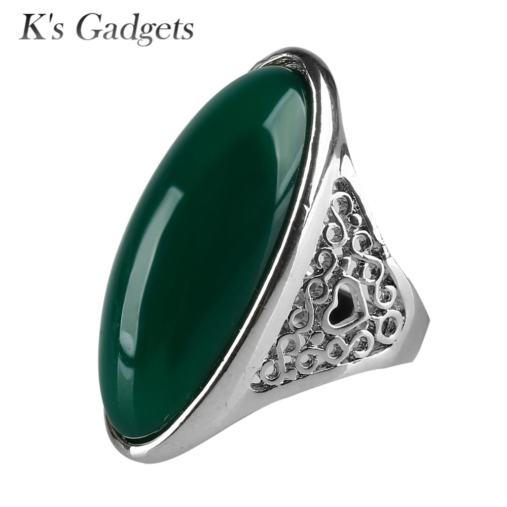 K's Gadgets Fashion Hollow Design Silver Color Black And Green - Fashion Jewelry - Photo 2