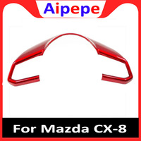 Para Mazda Demio Atenza Axela 3 2 6 CX 3 CX 4 CX 5 CX 8 2017 2019 Volante Capa De Lantejoulas Guarnições ABS Acessórios Interiores Do Carro Estilo de cromo     -