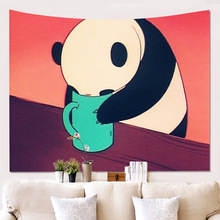 Wall Tapestry Decorative Beach Towel Pandawall Decorative Blanket Background Cloth Hanging Drawing Tapestries hot fashion women wall hanging tapestry beach towel home decorative tapestries yoga blanket wall tapestry