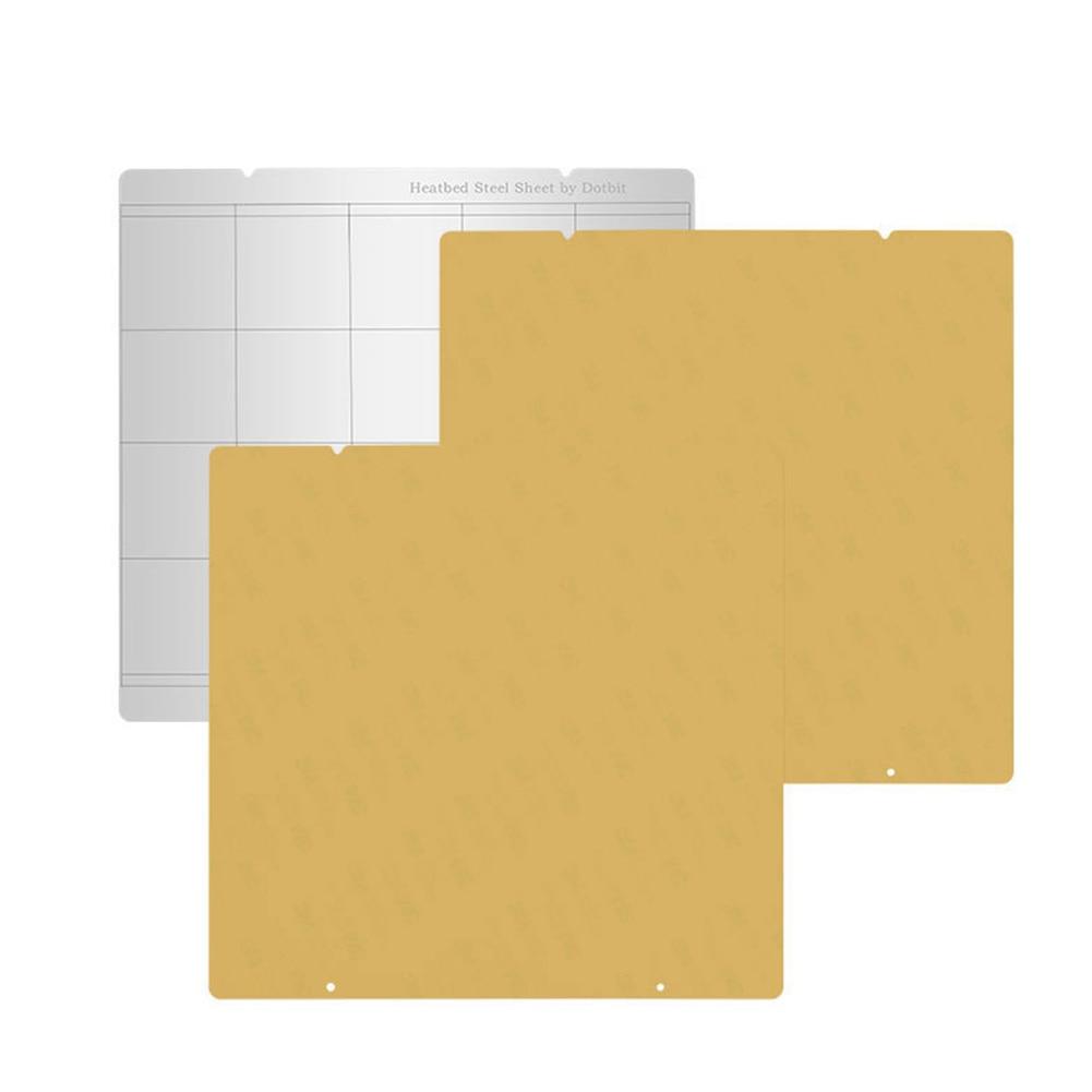 Tôle D'acier à ressort Chaleur Lit Plate-Forme Buildplate + 2 pièces Feuille de PEI Pour Prusa i3 Mk3 Mk2.5 GDeals