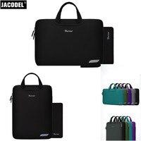 Jacodel Ultra Thin Elastic Neoprene Laptop Sleeve Bag Case 11 12 13 14 15 inch for MacBook ipad Tablet Laptop Bag Hangbag Case