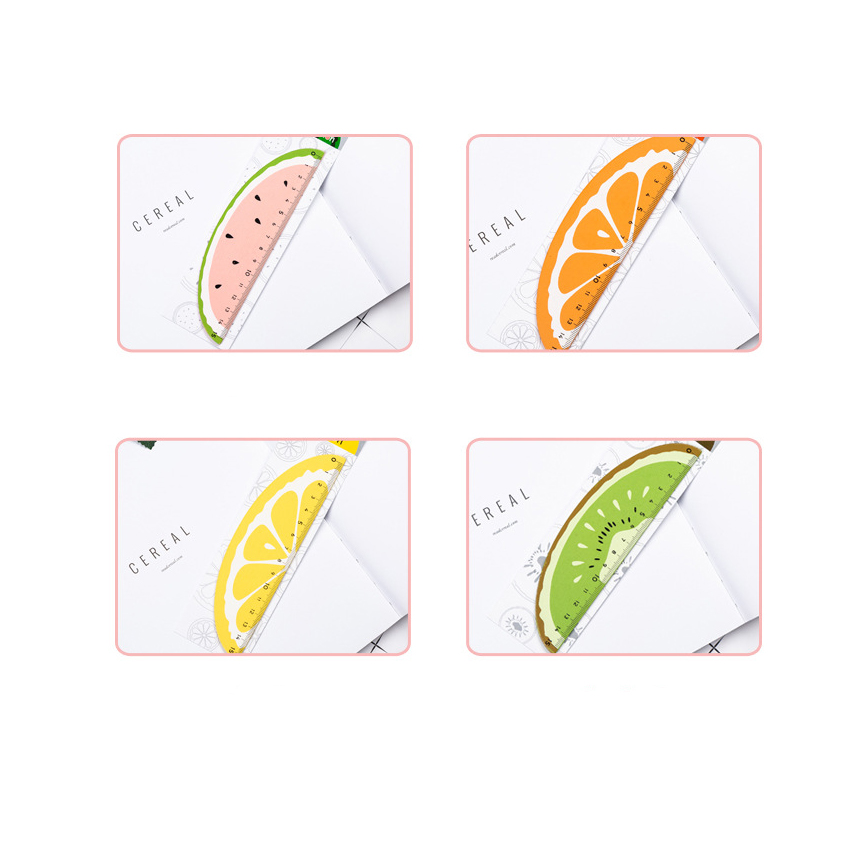 1pcs/lot Fresh Fruit Shape Wooden Ruler Student With Cute Stationery Natural