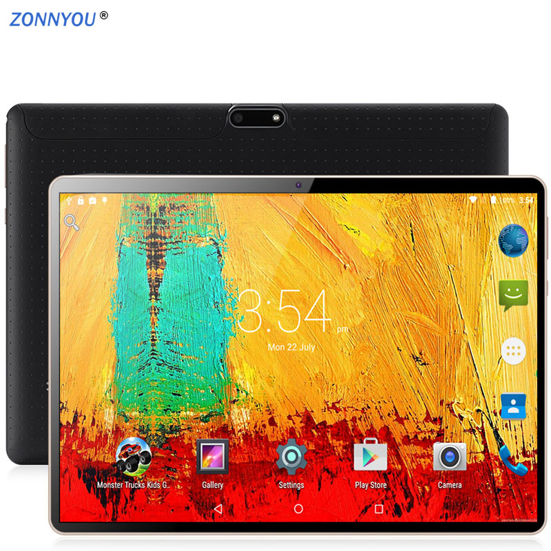 10.1 polegadas Tablet PC Android 8.0 4G/3G Telefonema Octa-Core 4GB Ram 64GB Rom Embutido 3G Bluetooth Wi-Fi Tablet PC + Teclado