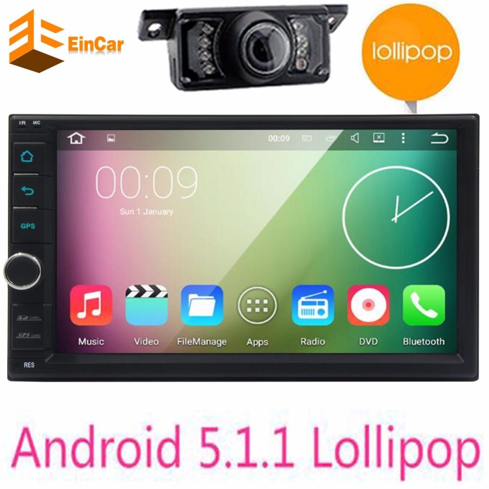 ae88cac673cf 7 2DIN 1024 600 del androide 5.1 PC del golpecito del coche Tablets 2 Din  universal para la navegación universal del GPS BT radios estéreo  reproductor de ...