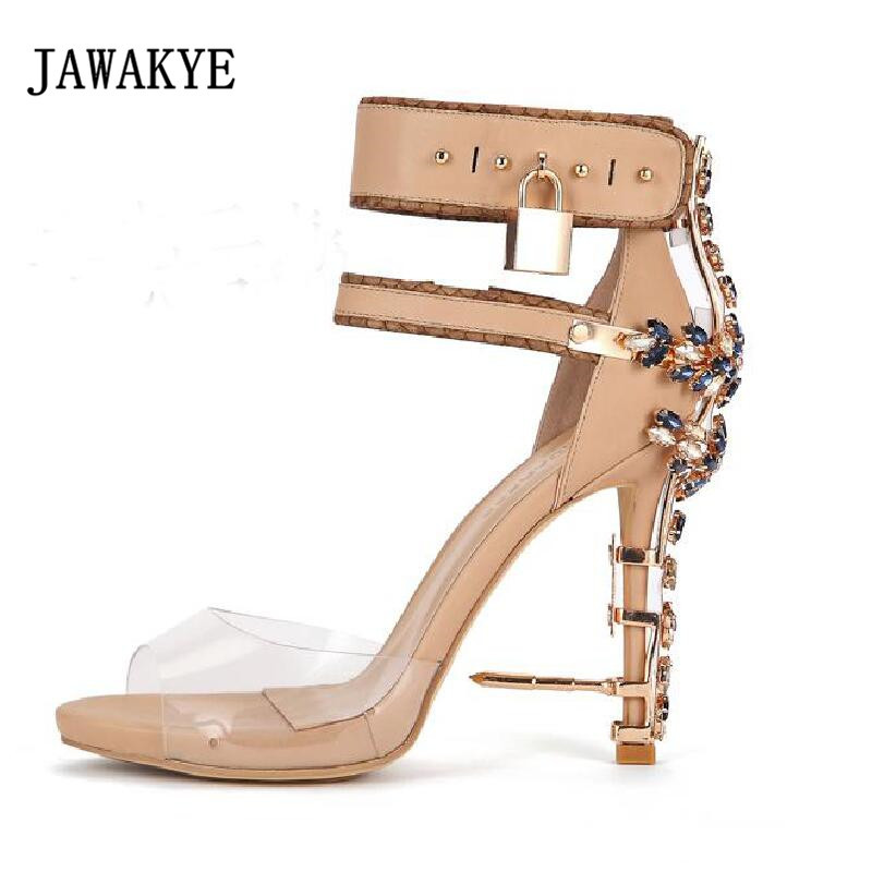 Shoes High Heels Metallic Gold Leather Sandals Snake Coiled Ankle Strappy Gradiator Shoes Women Summer Celebrity Shoes