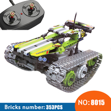 NEW 8015 353Pcs Technic The RC Track Remote-control Racer Building Block childrens toy birthday gift compatible with 42065
