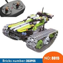 NEW 8015 353Pcs Technic The font b RC b font Track Remote control Racer Building Block