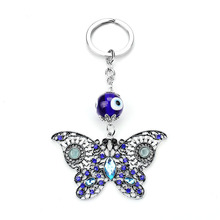 2017 Brand New Trendy Evil Eye Keychains Cute Animal Crystal Butterfly Keychain Keyring Car Accessoires