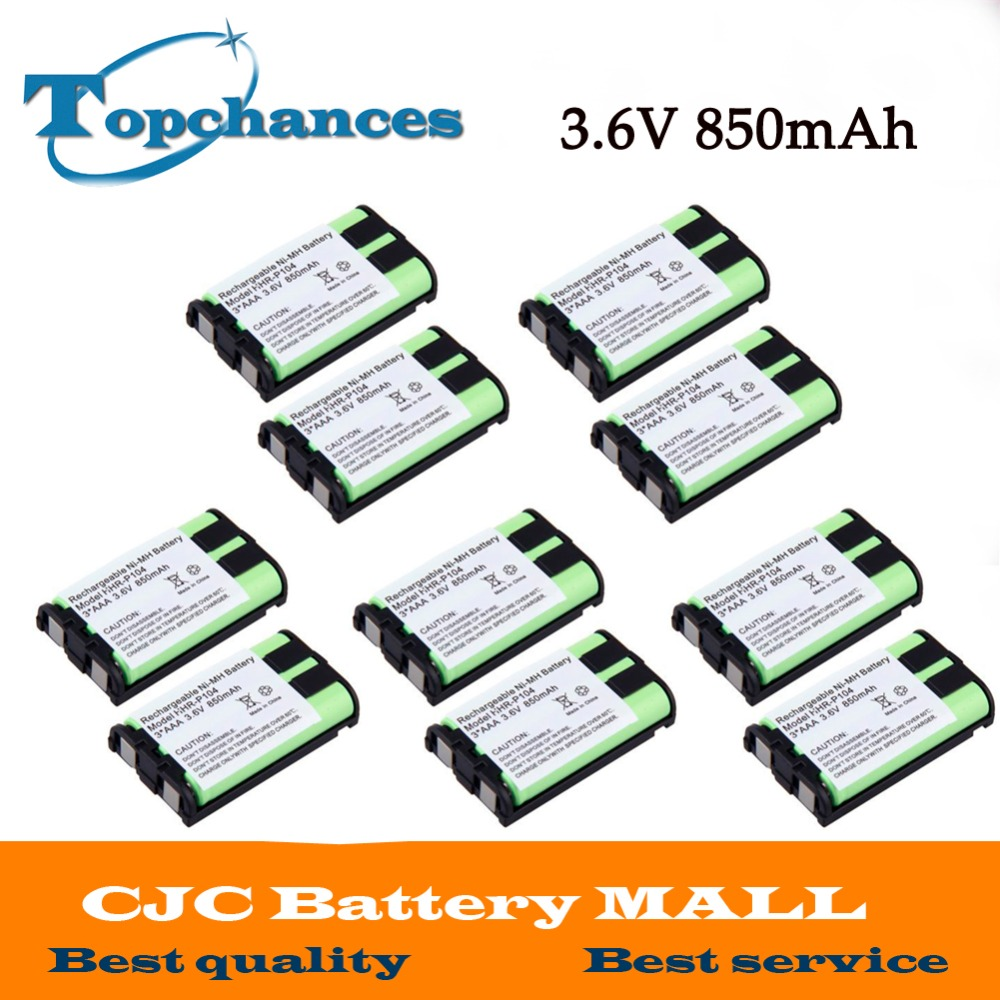 Batteries Methodical Us Fast Shipping Ni-mh 850mah 3.6v 3*aaa Hhr-p104 Hhr-p104a/1b Rechargeable Cordless Home Phone Battery For Panasonic Consumer Electronics