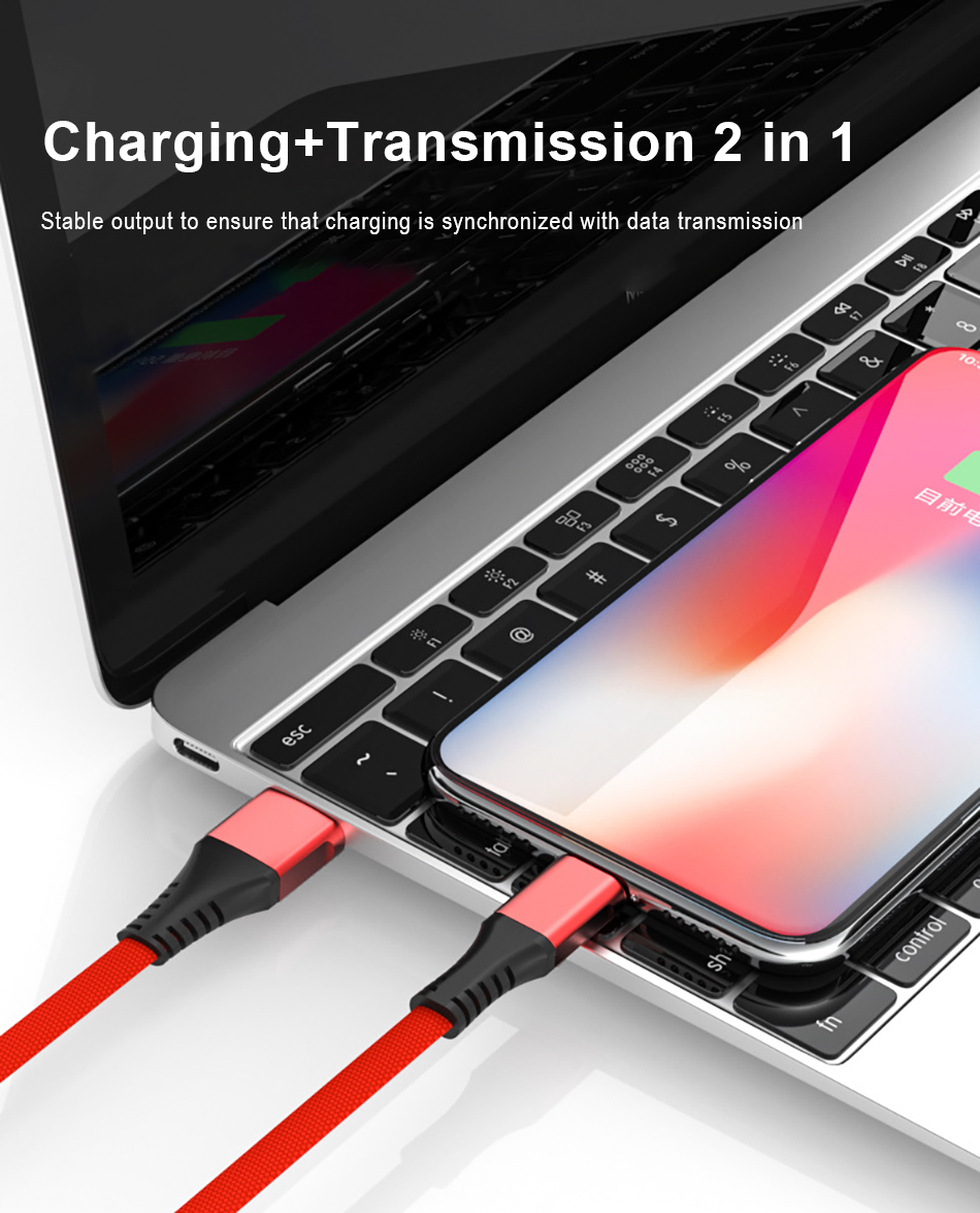 !ACCEZZ USB Charge Data Cable Lighting For iphone XS MAX XR X 8 7 6 6S 5S Plus Charging Cables For iPad Mini Short Charger Line (8)