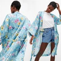 جديد نمط بوهيميا الزهور الشرابة طويل كيمونو صوفية المتضخم شال قمم مثير أزياء الساخنة مبيعات سترة wolovey #20